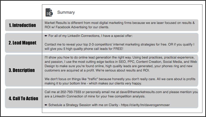 3-serviceofexistence-LinkedIn-Company-Page-Example-Summary